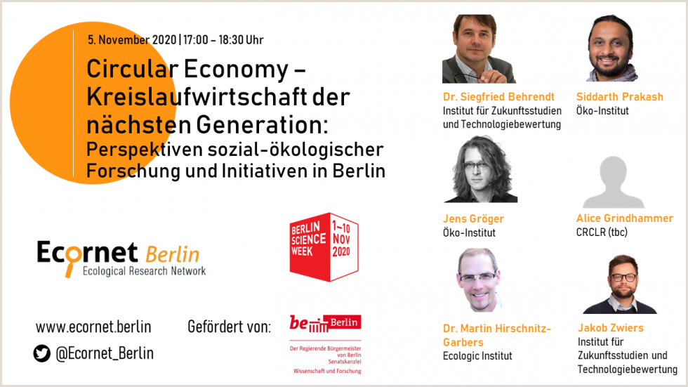 Berlin Science Week - Circular Economy